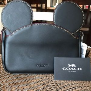 Coach Limited Edition Mickey Ears Wristlet